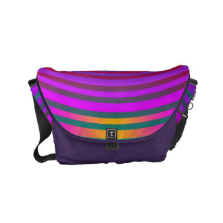 Target Rings Pattern colored + your backgr. & idea Messenger Bags