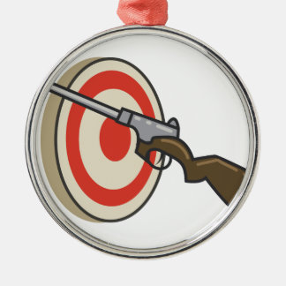 Target Shoot Metal Ornament