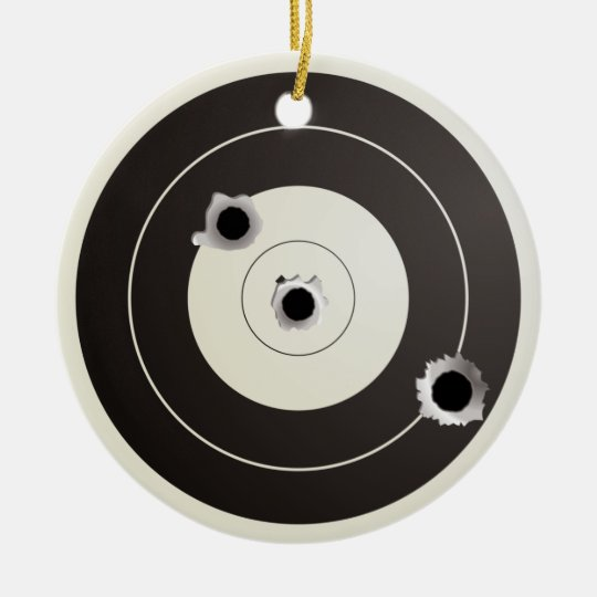 Target shooting round ceramic decoration
