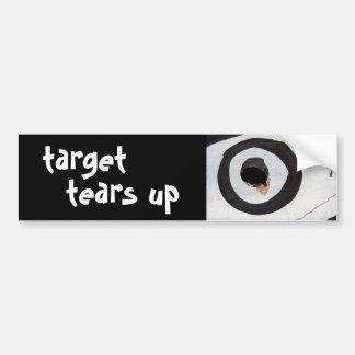 target tears up car bumper sticker