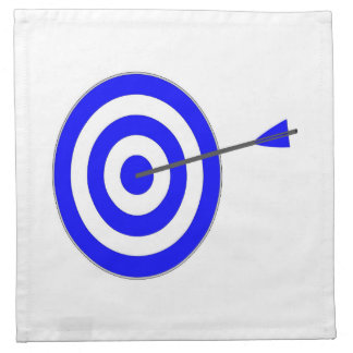 Target with arrow napkin