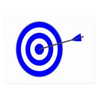 Target with arrow postcard