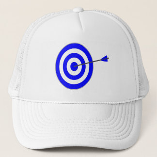 Target with arrow trucker hat