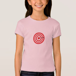 Target with Heart T Shirts