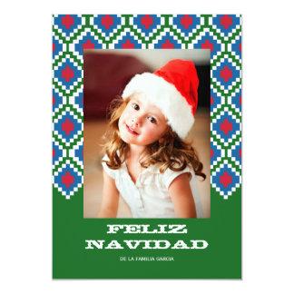Tarjeta de Navidad colorida Card