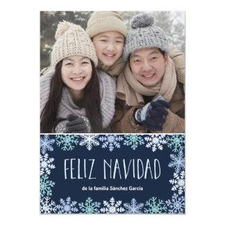 Tarjeta de Navidad Moderna Letras Card