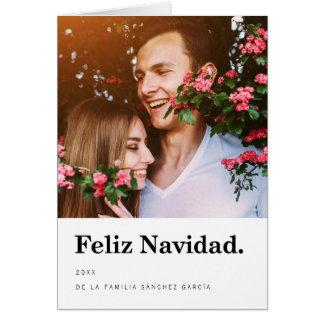 Tarjetas Navideñas de Foto | Tipografía Moderna Card