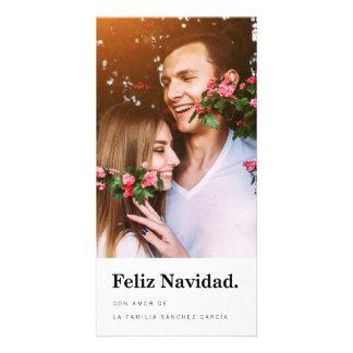 Tarjetas Navideñas de Foto | Tipografía Moderna Picture Card