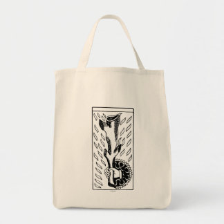 Tarot Card: Ace Of Rods Grocery Tote Bag
