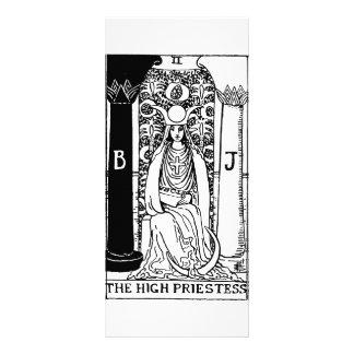 tarot card 'high priestess' 10 cm x 23 cm rack card