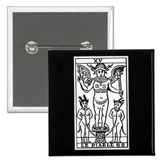 Tarot Card: The Devil 15 Cm Square Badge