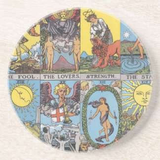 Tarot Cards Collage Drink Coasters