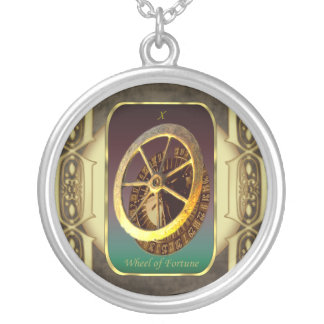 Tarot Cards The Wheel of Fortune Round Pendant