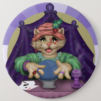 TAROT CAT CUTE CARTOON Colossal, 6 Inch 6 Cm Round Badge