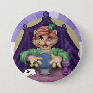 TAROT CAT CUTE CARTOON Large, 3 Inch 7.5 Cm Round Badge