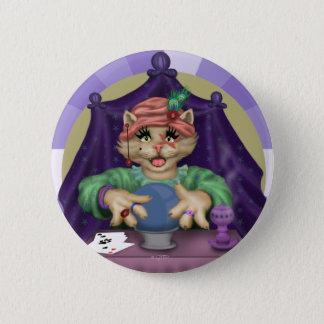 TAROT CAT CUTE CARTOON Standard, 2¼ Inch 6 Cm Round Badge