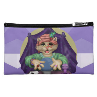 TAROT CAT Sueded Medium Cosmetic Bag