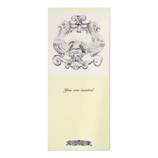 "TAROT  metallic  gold 4"" X 9.25"" Invitation Card"