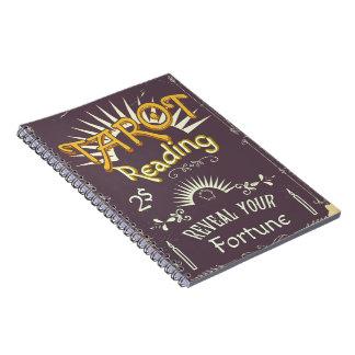 Tarot Reader vintage print Notebook