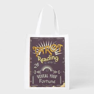 Tarot Reader vintage print Reusable Grocery Bag