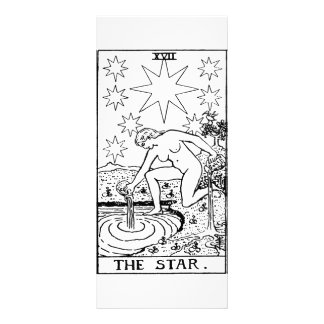 Tarot star personalized rack card