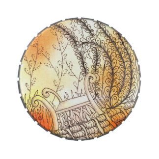 Tarot Symbol Bench Candy Tins