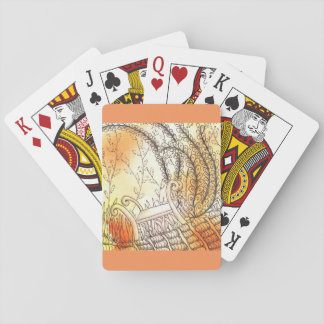 Tarot Symbol Bench Playing Cards