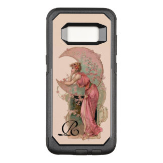 TAROTS/ LADY OF THE MOON,FLOWERS IN PINK MONOGRAM OtterBox COMMUTER SAMSUNG GALAXY S8 CASE
