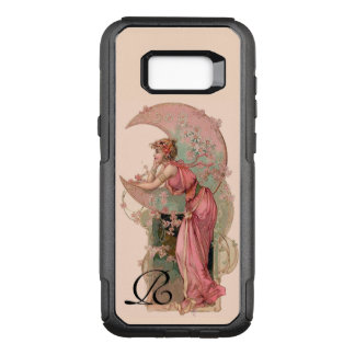 TAROTS/ LADY OF THE MOON,FLOWERS IN PINK MONOGRAM OtterBox COMMUTER SAMSUNG GALAXY S8+ CASE