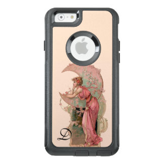 TAROTS/ LADY OF THE MOON,FLOWERS IN PINK MONOGRAM OtterBox iPhone 6/6S CASE
