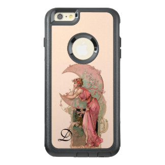 TAROTS/ LADY OF THE MOON,FLOWERS IN PINK MONOGRAM OtterBox iPhone 6/6S PLUS CASE