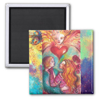 TAROTS LOST SHADOWS,LOVERS Valentine's Day Heart Magnet