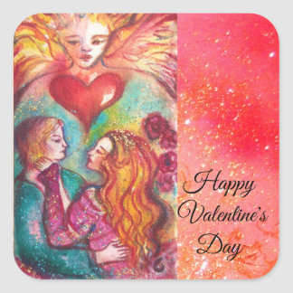TAROTS OF LOST SHADOWS,LOVERS Valentine's Day Square Sticker