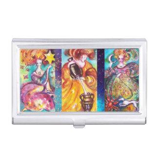 TAROTS OF THE LOST SHADOWS/ MOON,TEMPERANCE,STAR BUSINESS CARD HOLDER