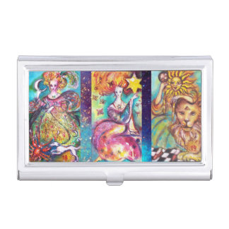 TAROTS OF THE LOST SHADOWS /THE MOON,STAR AND SUN BUSINESS CARD HOLDER