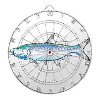 Tarpon Ocean Gamefish illustration vector Dartboard With Darts