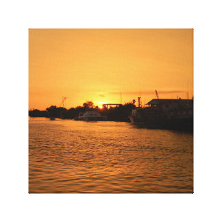Tarpon Springs Sunset Gallery Wrapped Canvas