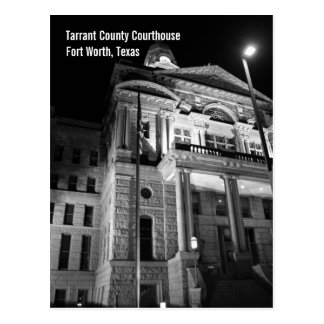 Tarrant County Courthouse (Night) Postcard