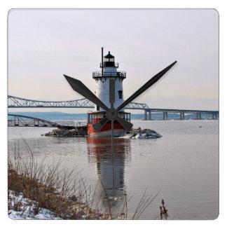 Tarrytown Lighthouse, New York Wall Clock