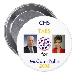 TARS for McCain-Palin 7.5 Cm Round Badge