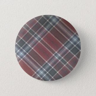 tartan 6 cm round badge