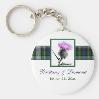 Tartan and Thistle Wedding Favor Keychain