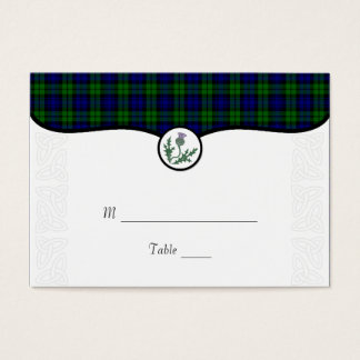 Tartan and Thistle Wedding Place or Escort Card