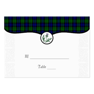 Tartan and Thistle Wedding Place or Escort Card Pack Of Chubby Business Cards
