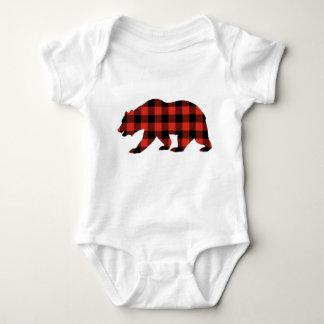 Tartan bear baby bodysuit
