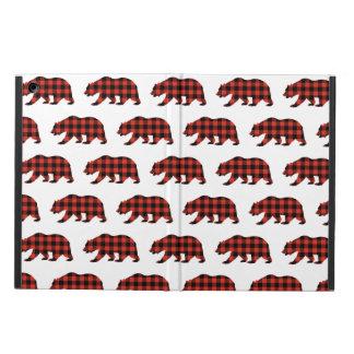 Tartan bear iPad air cover