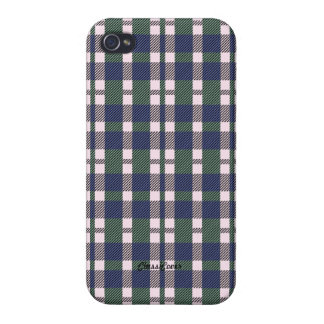 Tartan Blue Green Pink Pattern Savvy Cases For iPhone 4