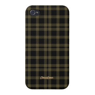 Tartan Brown Black Pattern Savvy Cases For iPhone 4