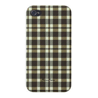 Tartan Brown Pattern Savvy Cases For iPhone 4
