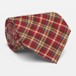 Tartan Check Plaid Red Two-Sided Tie